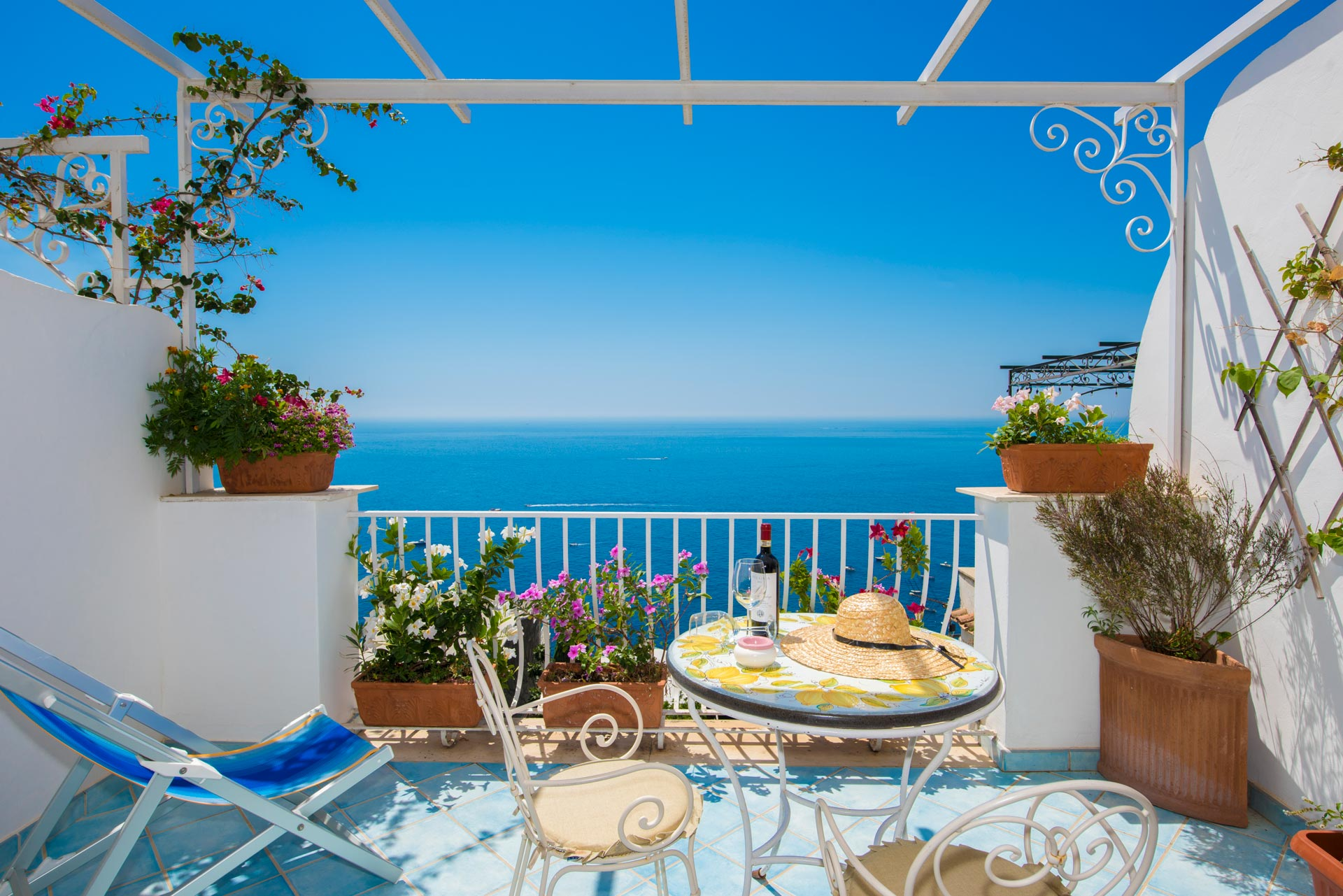 Sea view Terrace in Positano