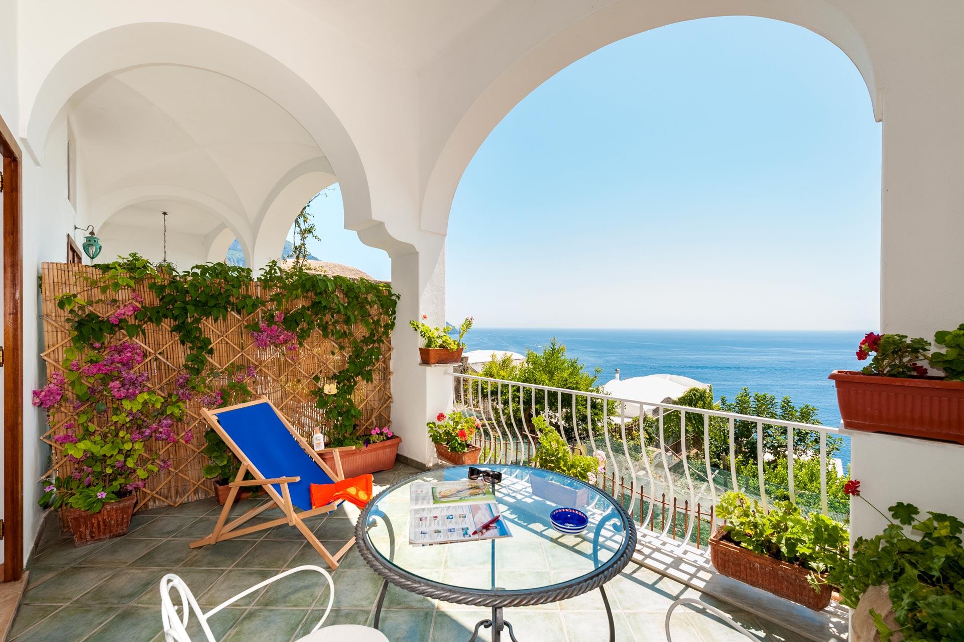 Sea view Terrace in Positano